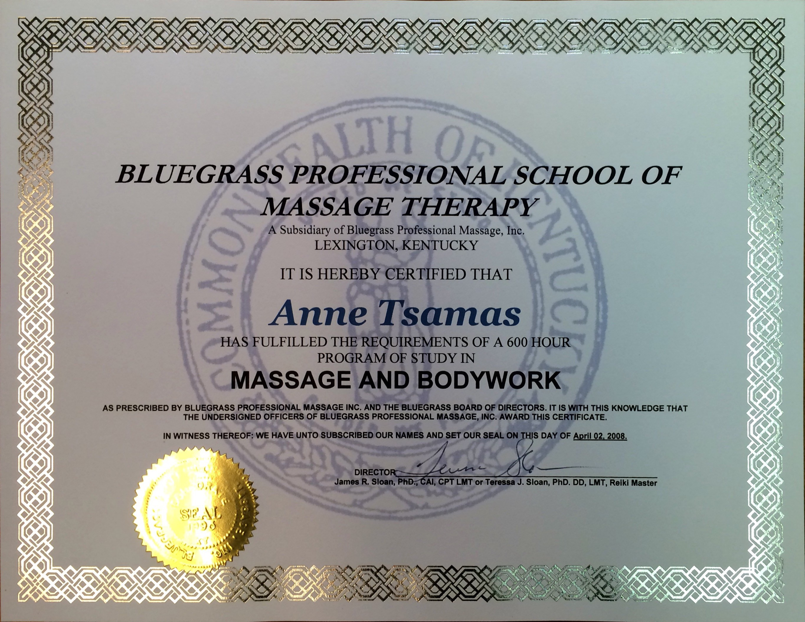 About Anne Tsamas Annes Healing Hands Therapeutic Massage Therapy